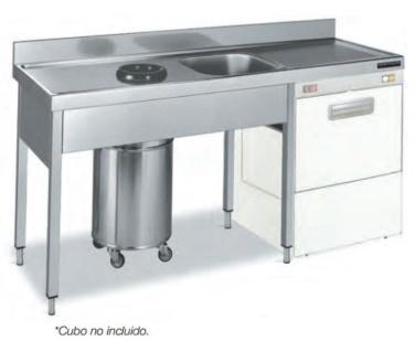 fregadero con espacio para lavavajillas distform