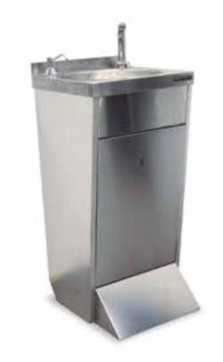lavamanos de pie con grifo electronico para hosteleria distform