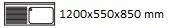 1200X550X850 mm