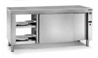 mesa caliente pasante para mantenimiento de platos distform