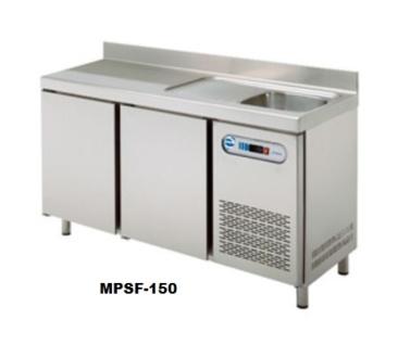mesas refrigereda con fregadero edenox colectividades hosteleria restaurantes