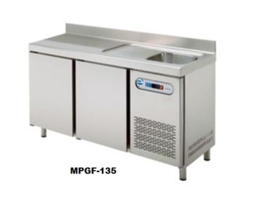 mesa refrigerada serie gastronorm para hosteleria bares restaurantes edenox