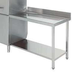 mesa de salida para lavavajillas industrial de cupula