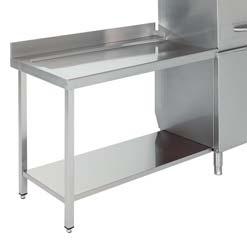 mesa de salida para lavavajillas industrial de capota edenox