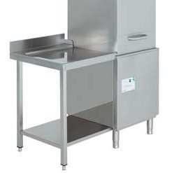 mesa de salida para lavavajillas industrial de cupula edenox