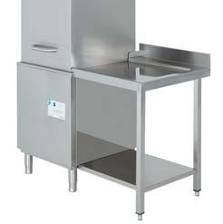 mesa de salida para lavavajillas de capota edenox