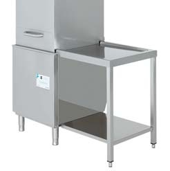 mesa de salida para lavavajillas de cupula edenox