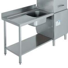 mesa de entrada con fregadero para lavavajillas industrial de cupula edenox