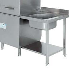 mesa de prelavado con fregadero para lavavajillas industrial de capota edenox