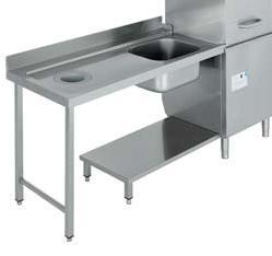 mesa de prelavado con fregadero para lavavajillas industrial para hosteleria capota edenox