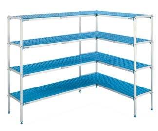 estanterias de aluminio y polietileno para hosteleria