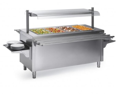 buffet central con calor seco self service distform