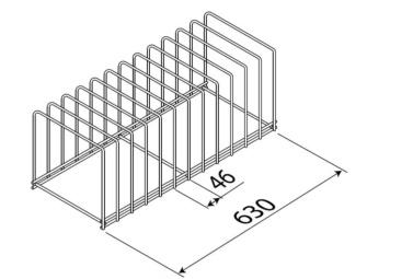 soporte 12 bandejas para lavautensilios de hosteleria edenox
