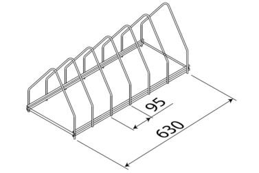 soporte de 6 bandejas para lavautensilios de hosteleria edenox