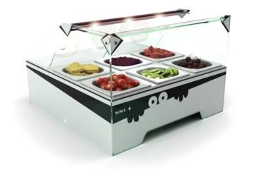 Vitrina topping mini refrigerada