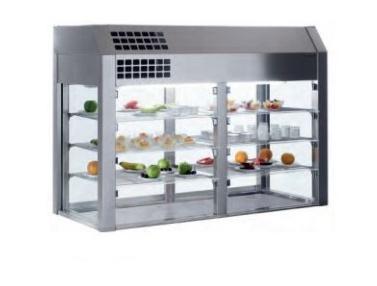 vitrina refrigerada para self service tres niveles distform