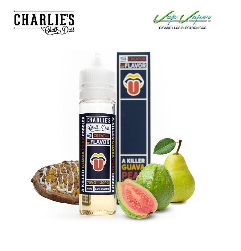Charlies Chalk Dust Guava Pear Cobbler 50ml (0mg) Pastel guava y pera