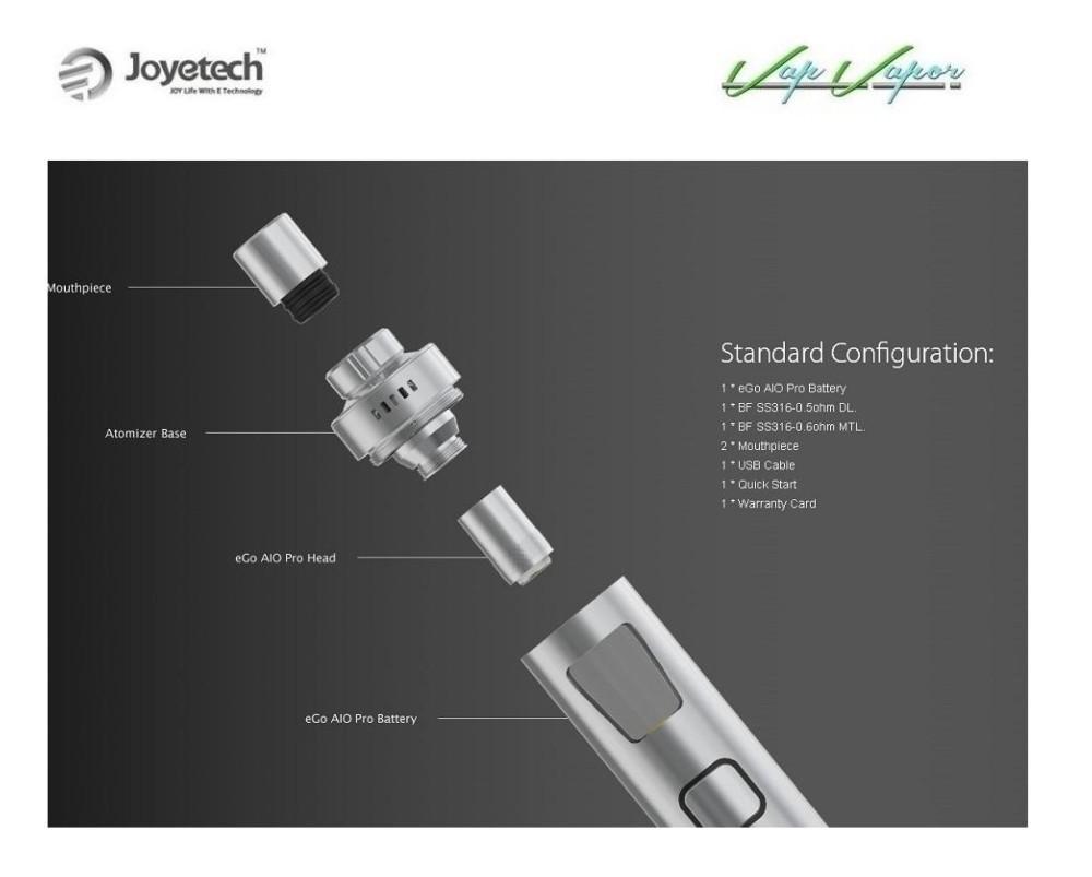 Kit Joyetech AIO PRO 2300mah - Ítem2