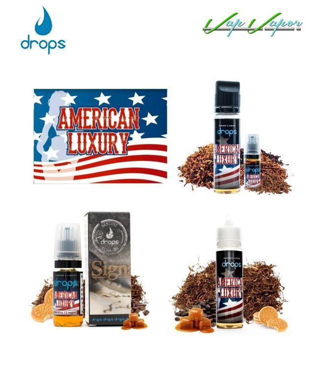 DROPS American Luxury 10ml / 30ml / 50ml (0mg) / 60ml (3mg) - Ítem1
