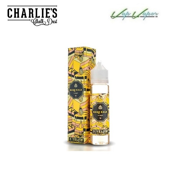 Charlies Chalk Dust Bake Sale Yellow 50ml 0mg