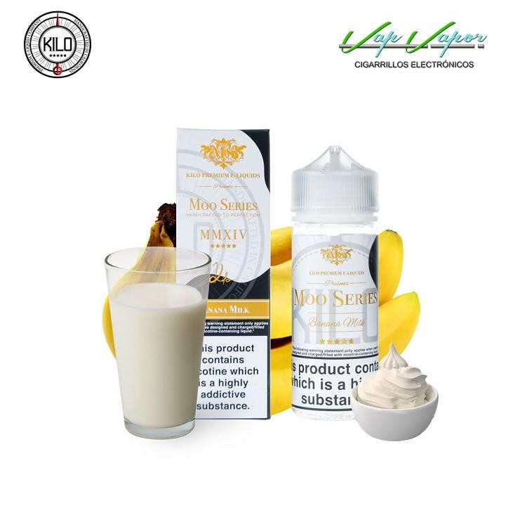 Banana Milk Kilo Moo Series 50ml (0mg) / 100ml (0mg)