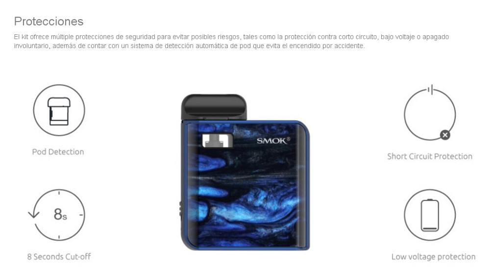 Mico Pod Kit Smok 700mah 1.7ml - Ítem11