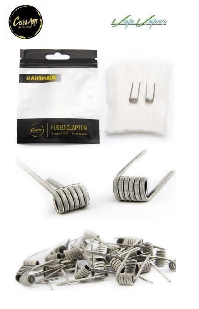 Pack 2 resistencias hechas manualmente FUSED CLAPTON - Coil Art 0.3ohm