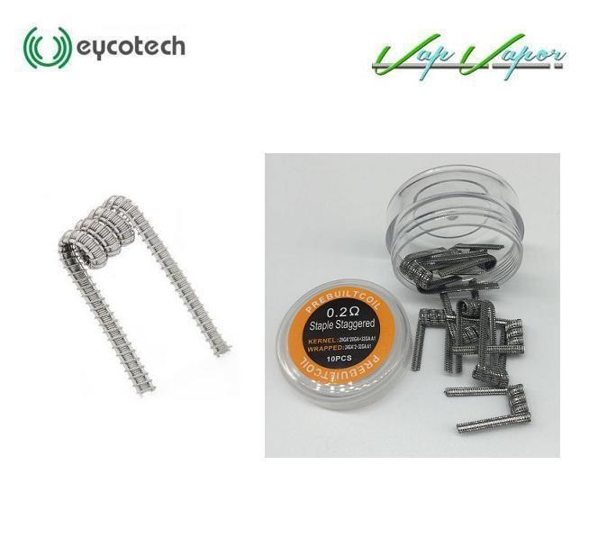 Pack 10 resistencias Staple Staggered KA1 Eycotech 0.2ohm