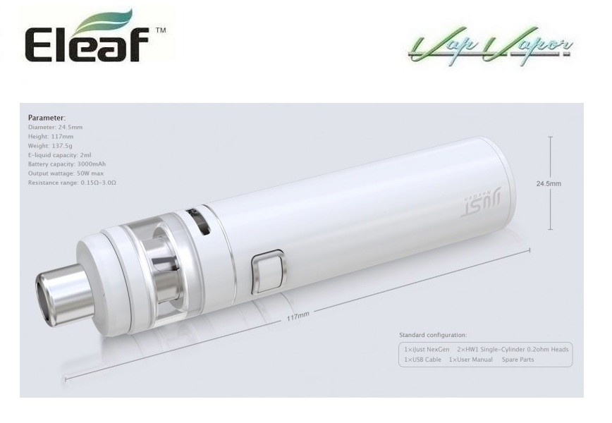 iJust NexGen 3000mah 2ml Eleaf Kit Completo - Ítem4
