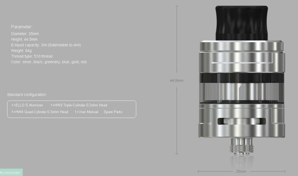 Atomizador Ello S 2ml Eleaf - Ítem3