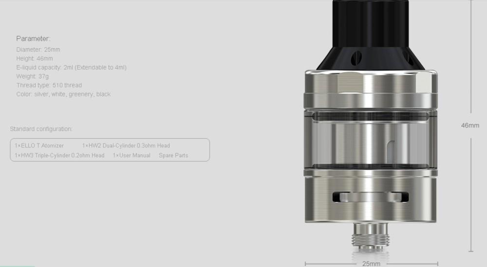 Atomizador Ello T Eleaf 2ml - Ítem3
