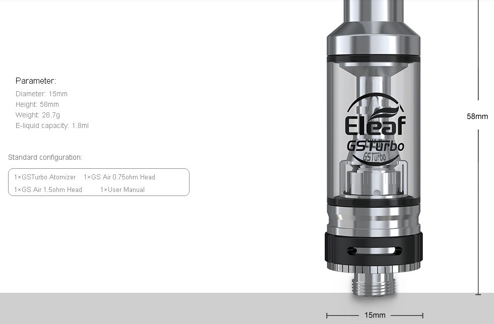 Atomizador GS Turbo Eleaf 1.8ml - Ítem4