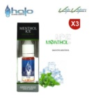 Tripack ( 3 x 10ml) MENTHOL ICE Halo