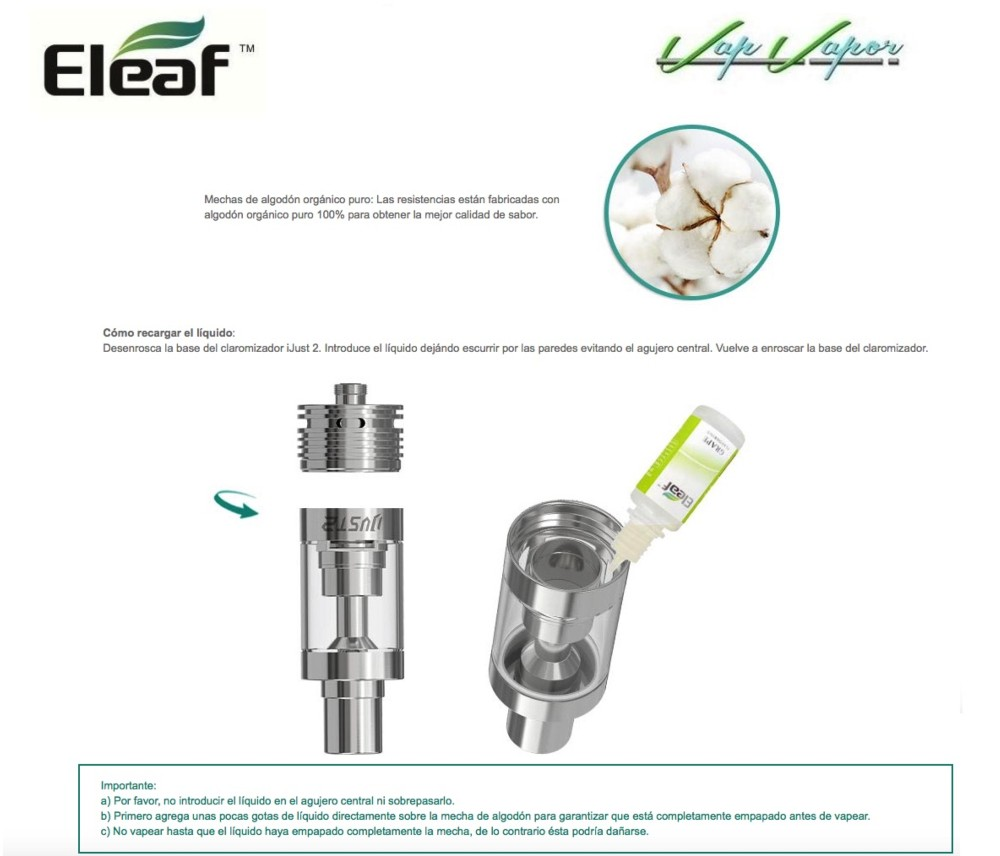 Atomizador iJust 2 Eleaf - Ítem5