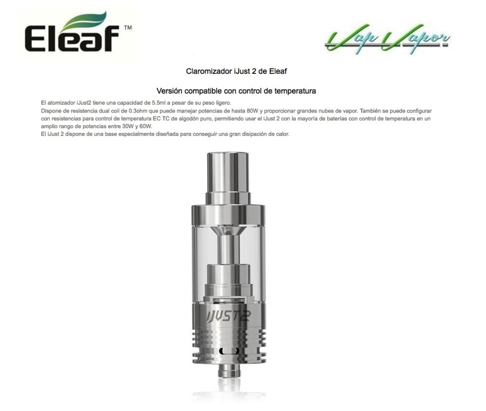 Atomizador iJust 2 Eleaf - Ítem2