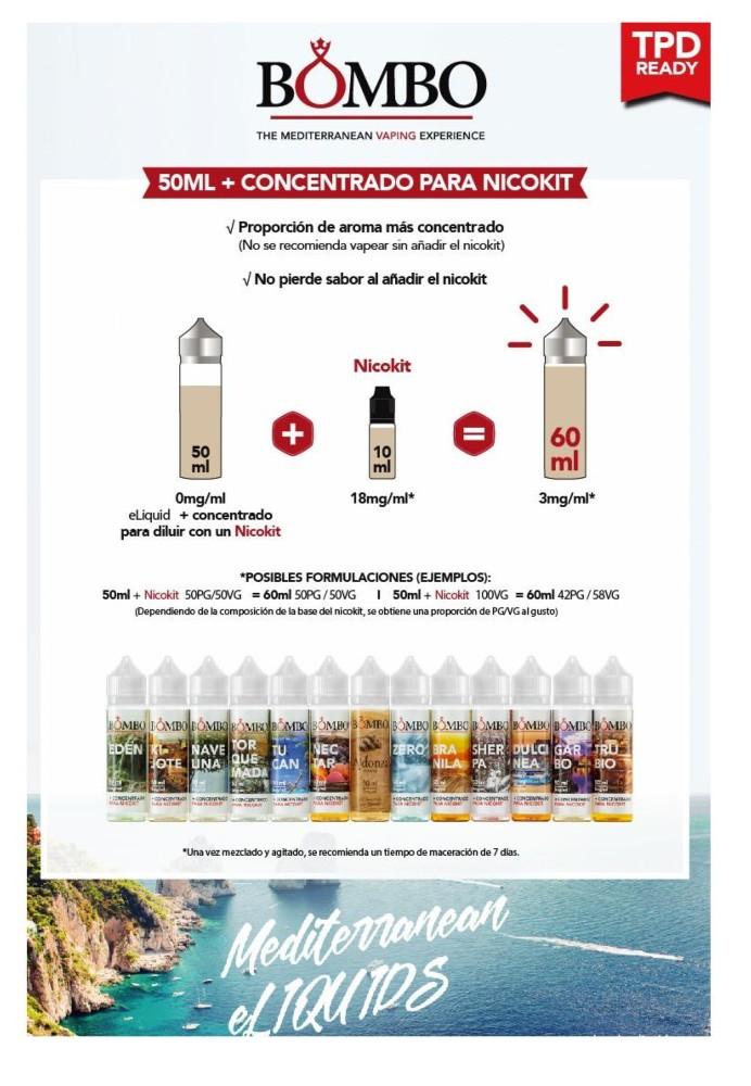 Bombo Aldonza 10ml / 50ml / 60ml (Tabaco, Vainilla) - Ítem2