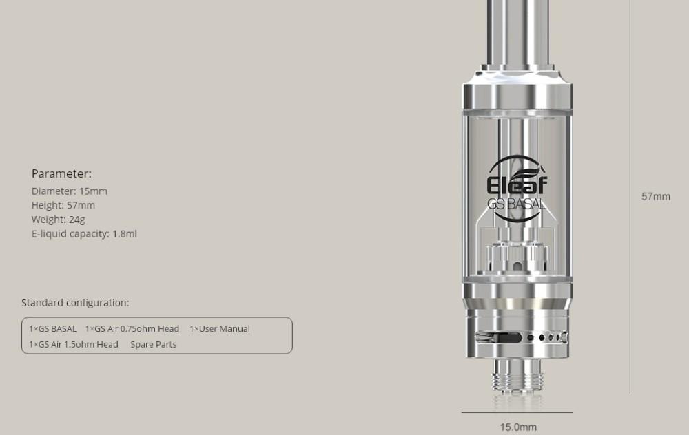 Atomizador GS Basal 1.8ml Eleaf - Ítem8