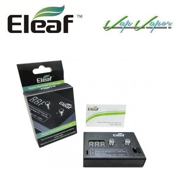 Eleaf. Medidor de ohmnios y voltage