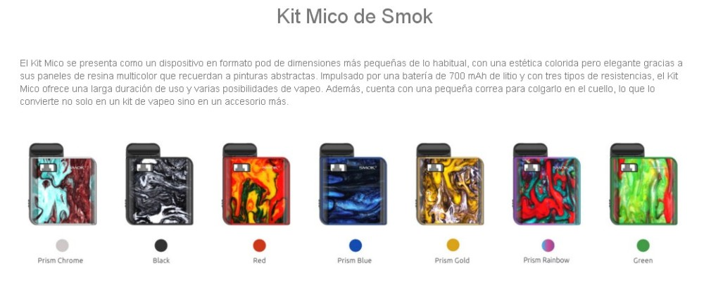 Mico Pod Kit Smok 700mah 1.7ml - Ítem15