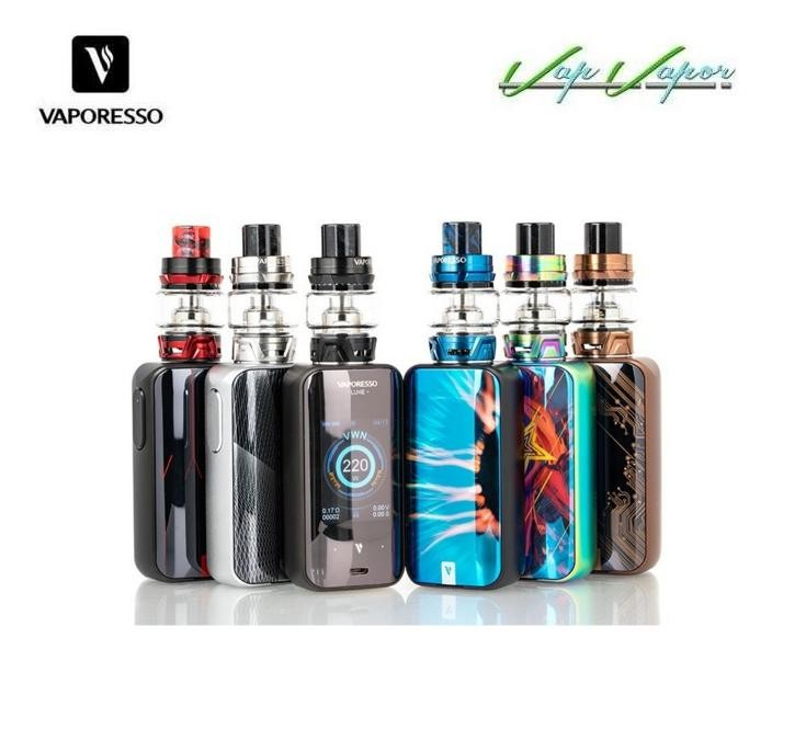 Mod LUXE 220W + Atomizador SKRR 2ml Vaporesso Kit Completo