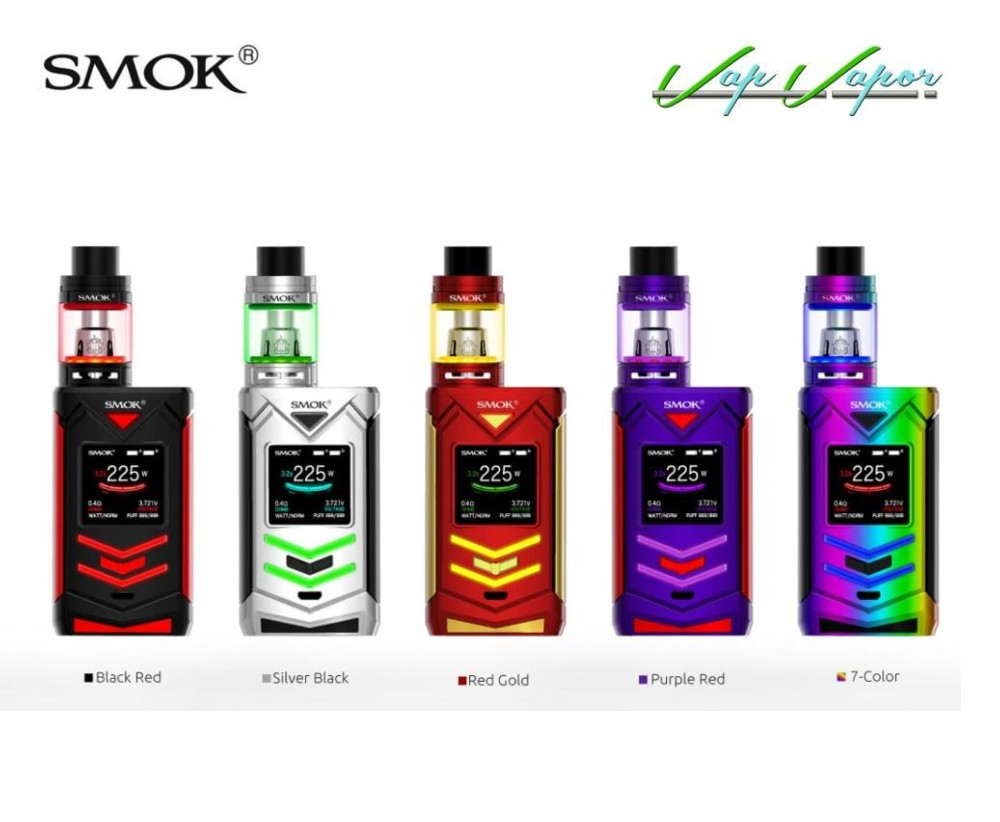 Mod Veneno 225W + TFV8 Big Baby 2ml Smok Kit Completo