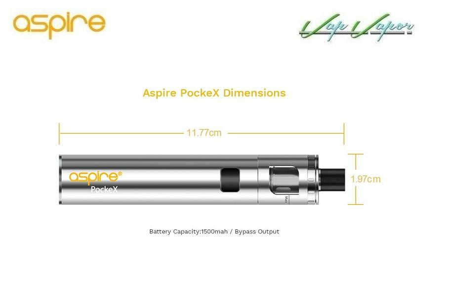 PockeX Pocket AIO Aspire 2ml 1500mah Kit Completo - Ítem2