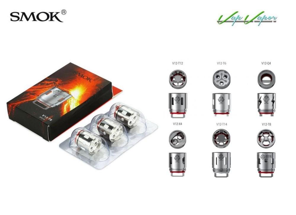 Resistencias TFV12 V12 Smok (Q4 X4 T6 T8 T12)