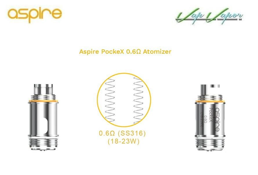 PockeX Pocket AIO Aspire 2ml 1500mah Kit Completo - Ítem4