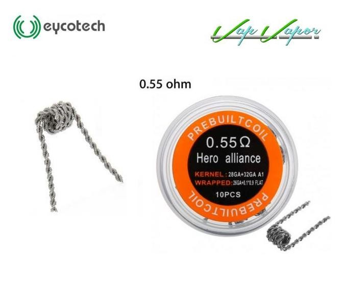 Pack 10 resistencias Hero Alliance KA1 0.55ohm Eycotech