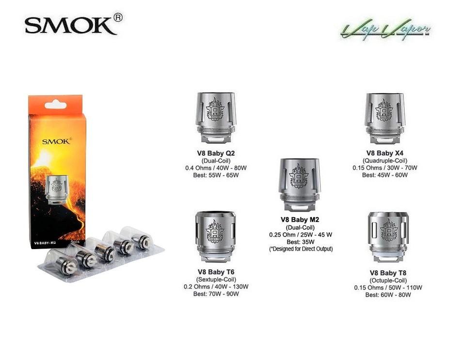 Resistencias Smok V8 BABY X4 M2 Q2 T6 T8