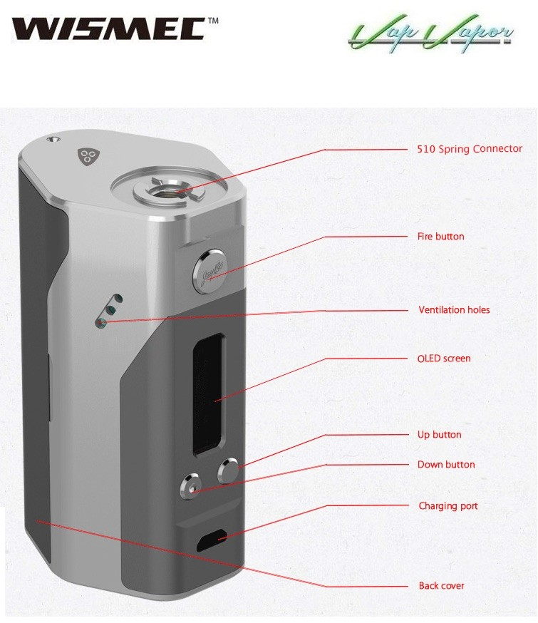 Box Mod Wismec REULEAUX RX 200W - Ítem4