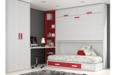 Cama abatible horizontal White