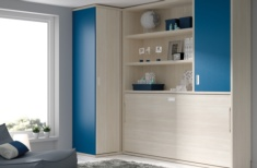 Cama abatible horizontal blue