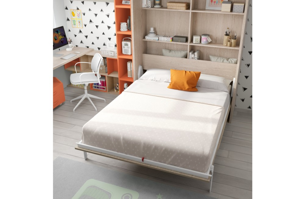 Cama abatible vertical de matrimonio Orange